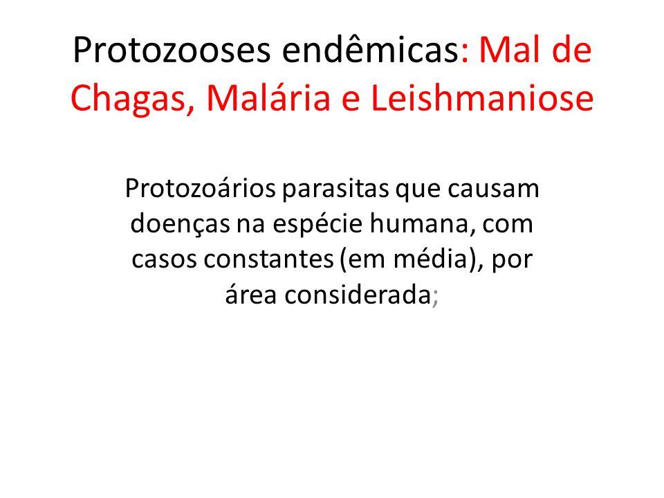 Protozooses endêmicas: Mal de Chagas, Malária e Leishmaniose