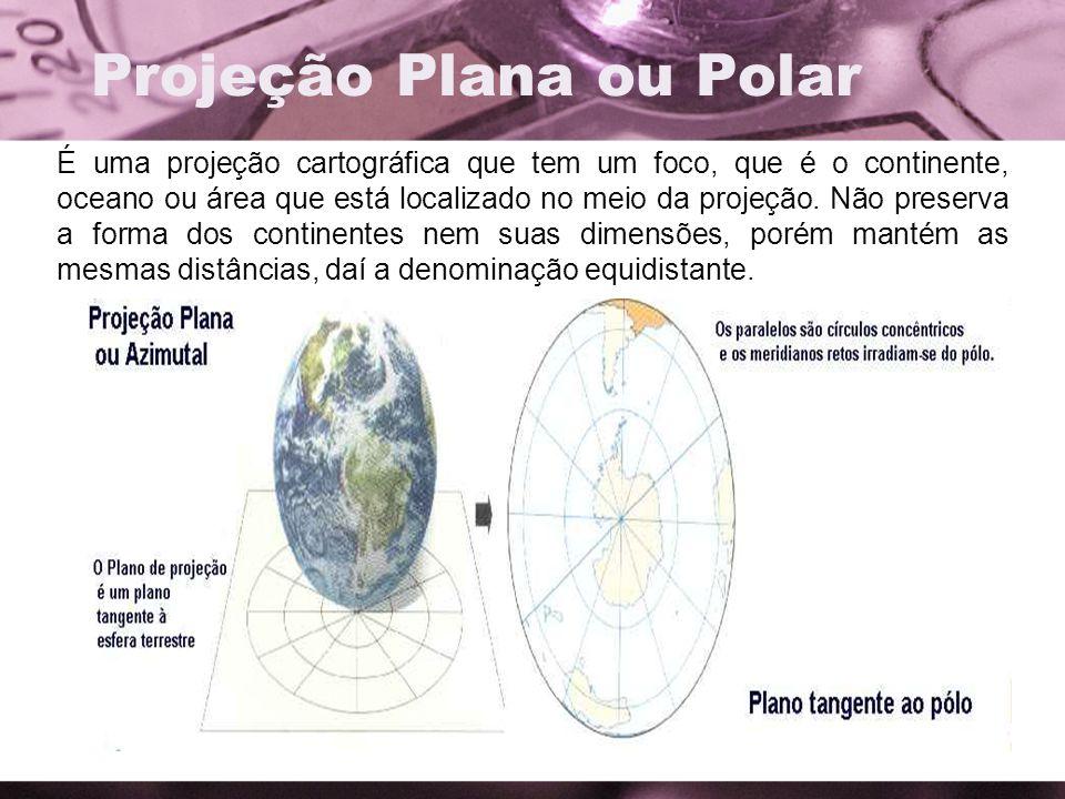 Projeção Plana ou Polar