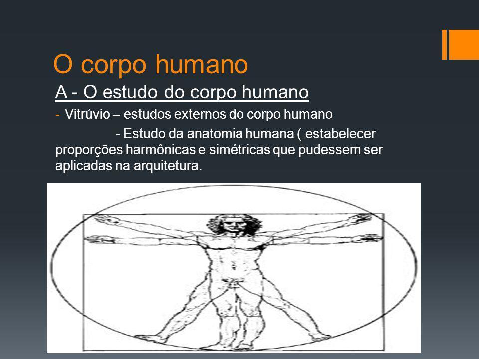 O corpo humano A - O estudo do corpo humano