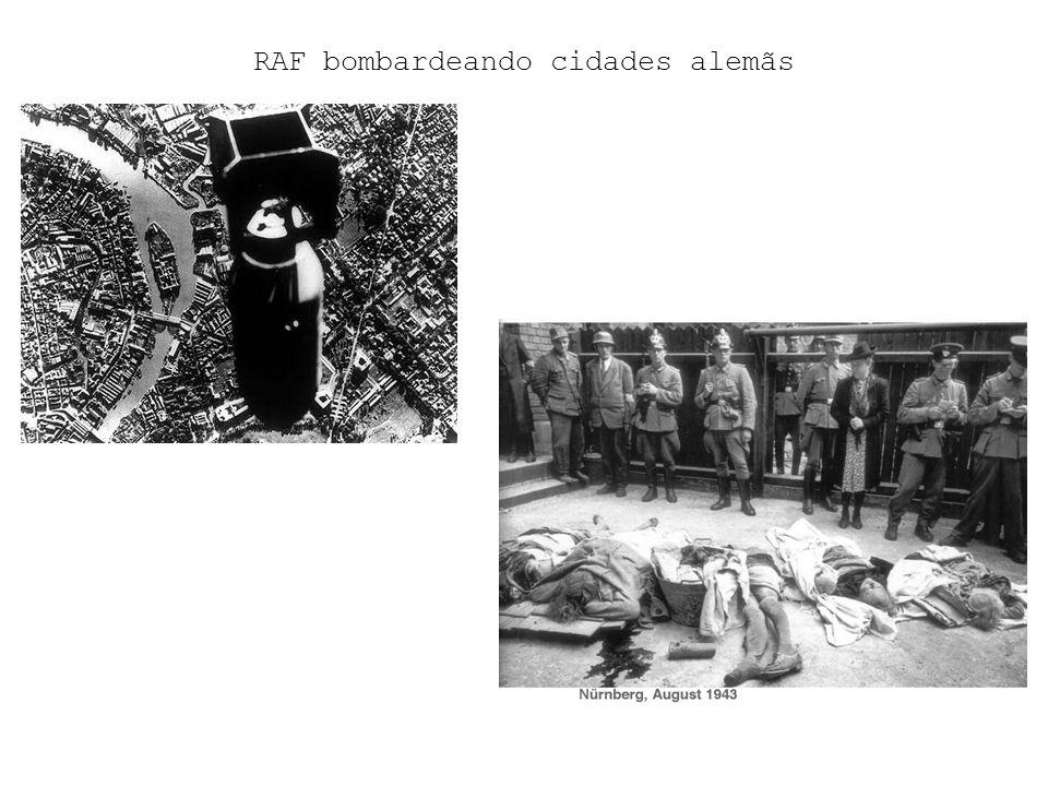 RAF bombardeando cidades alemãs