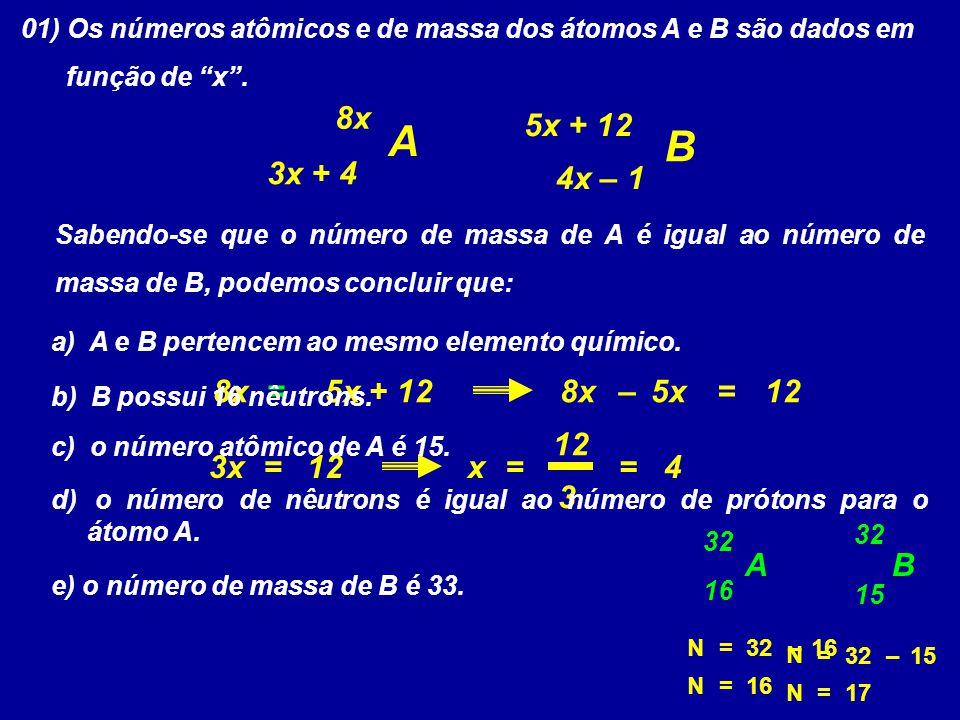 A B 8x 5x + 12 3x + 4 4x – 1 8x = 5x + 12 8x – 5x = 12 12 3x = 12 x =