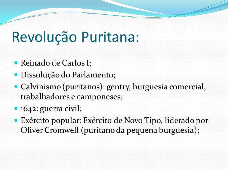 Revolução Puritana: Reinado de Carlos I; Dissolução do Parlamento;