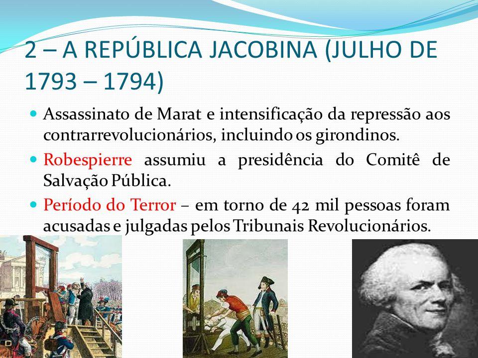 2 – A REPÚBLICA JACOBINA (JULHO DE 1793 – 1794)