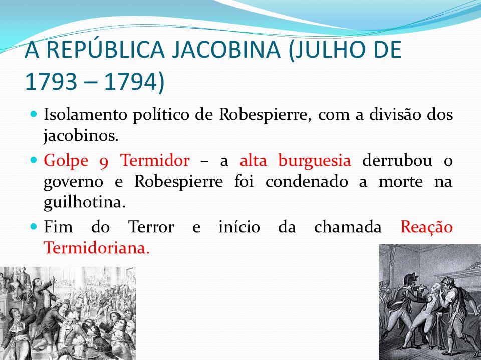 A REPÚBLICA JACOBINA (JULHO DE 1793 – 1794)