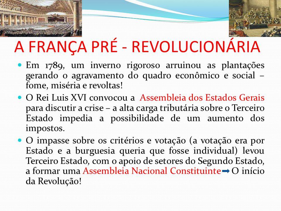 A FRANÇA PRÉ - REVOLUCIONÁRIA