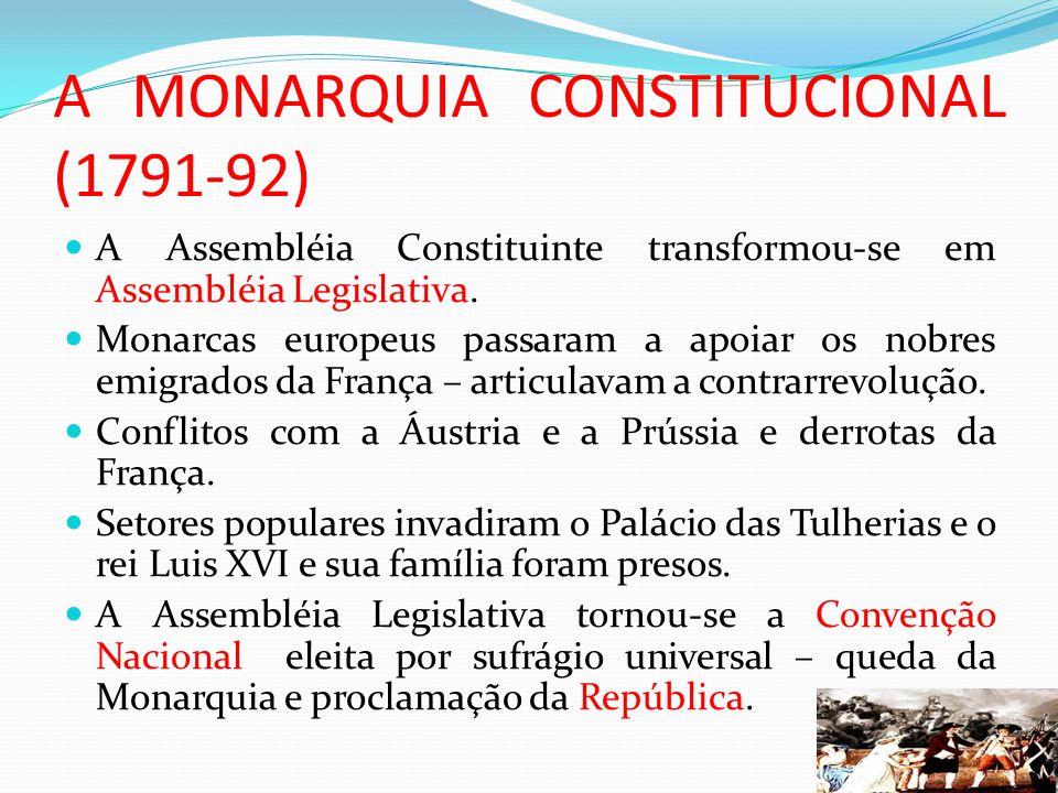 A MONARQUIA CONSTITUCIONAL (1791-92)