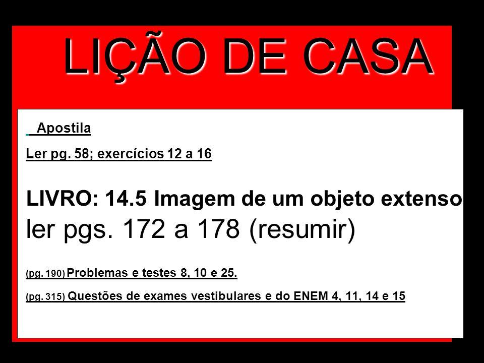 LIÇÃO DE CASA ler pgs. 172 a 178 (resumir)