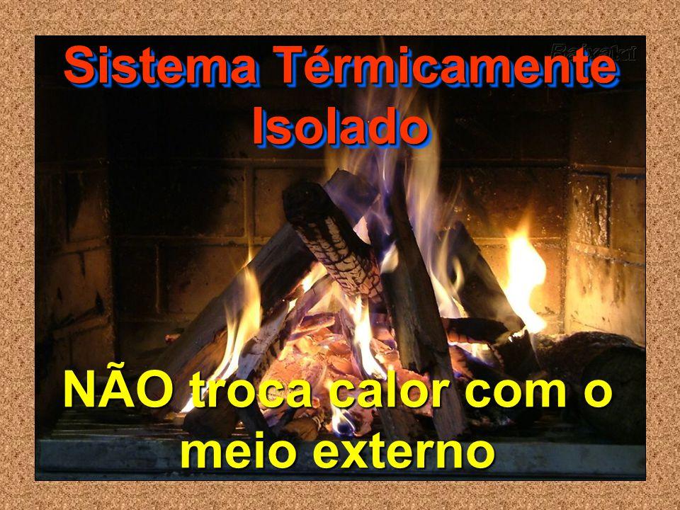 NÃO troca calor com o meio externo