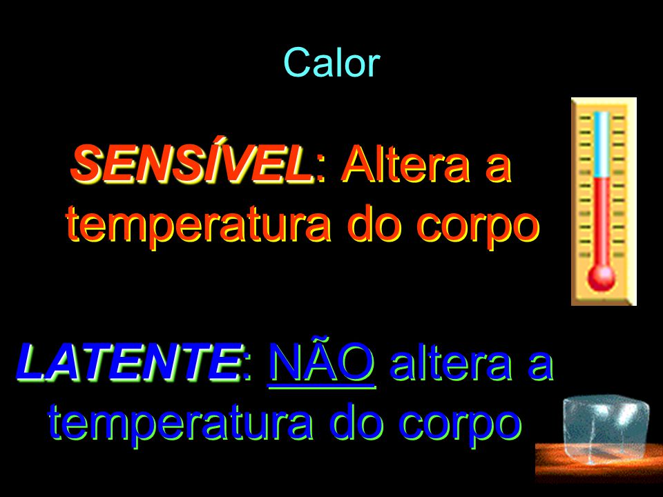SENSÍVEL: Altera a temperatura do corpo