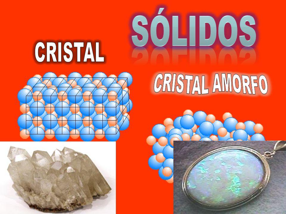 SÓLIDOS CRISTAL CRISTAL AMORFO