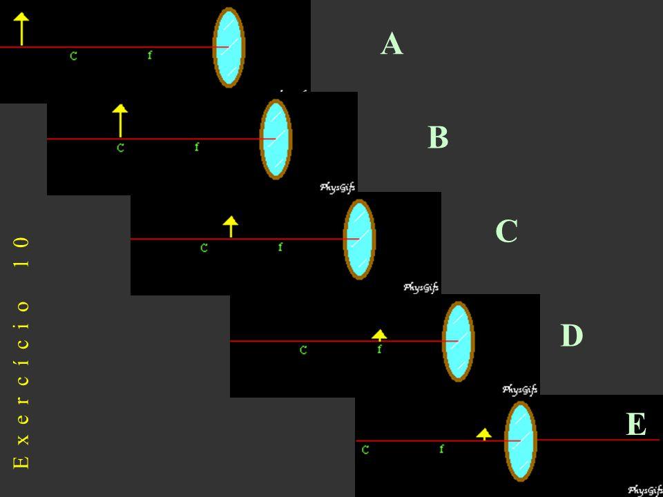 A B C Exercício 10 D E