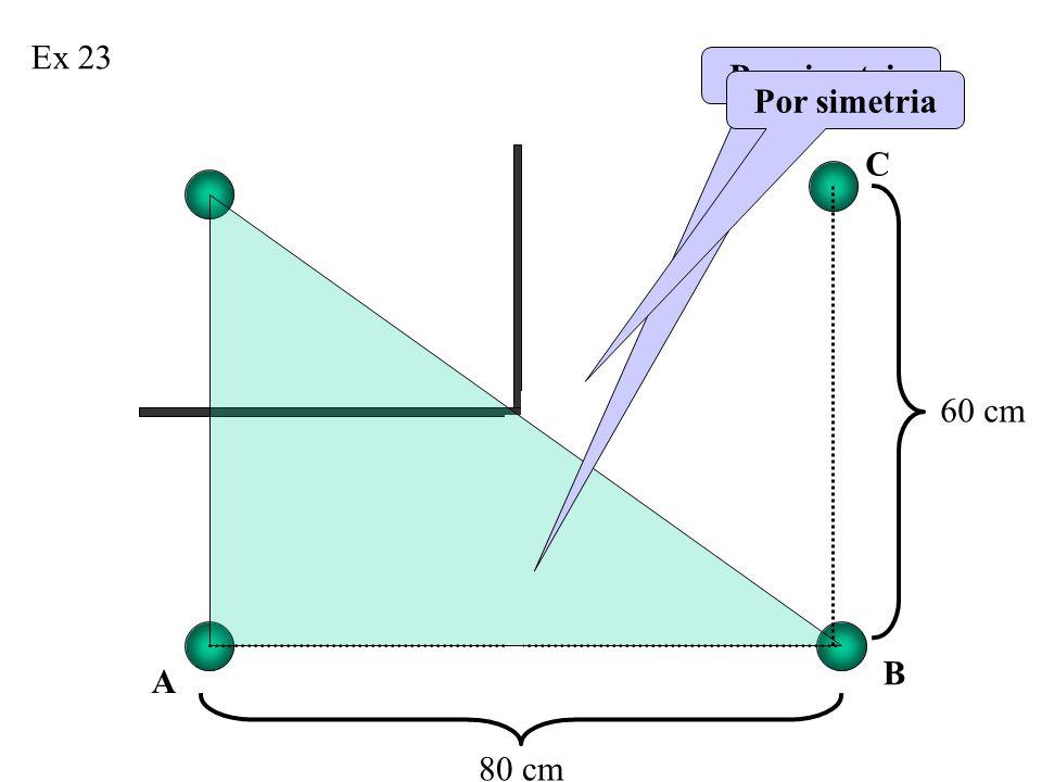 Ex 23 Por simetria Por simetria C 60 cm B A 80 cm