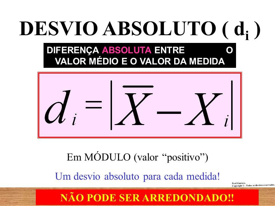 DESVIO ABSOLUTO ( di ) Em MÓDULO (valor positivo )