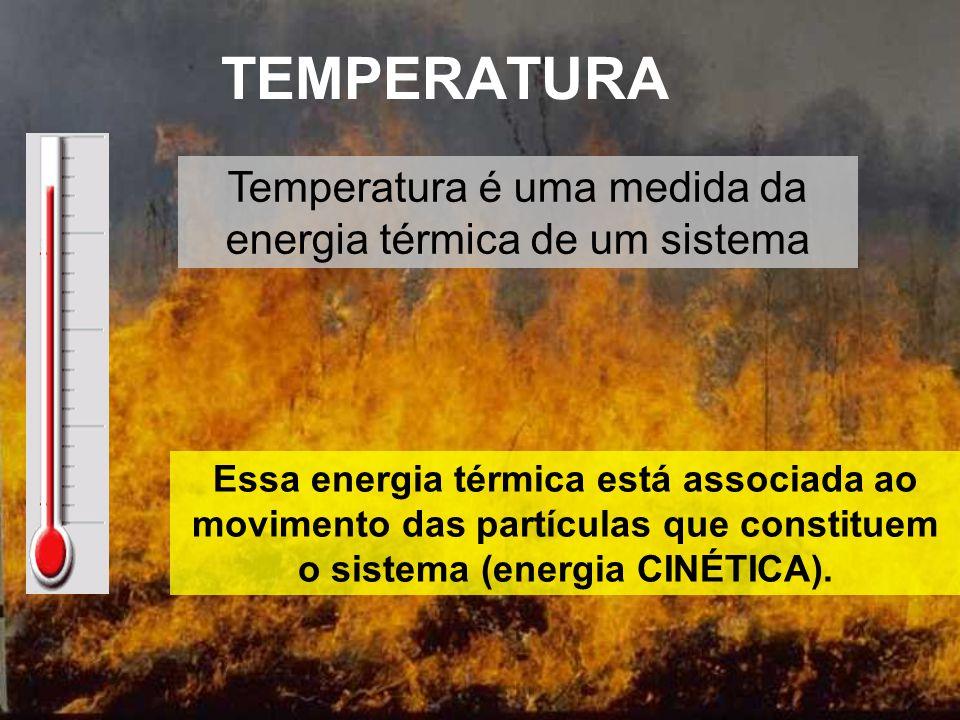 Temperatura é uma medida da energia térmica de um sistema