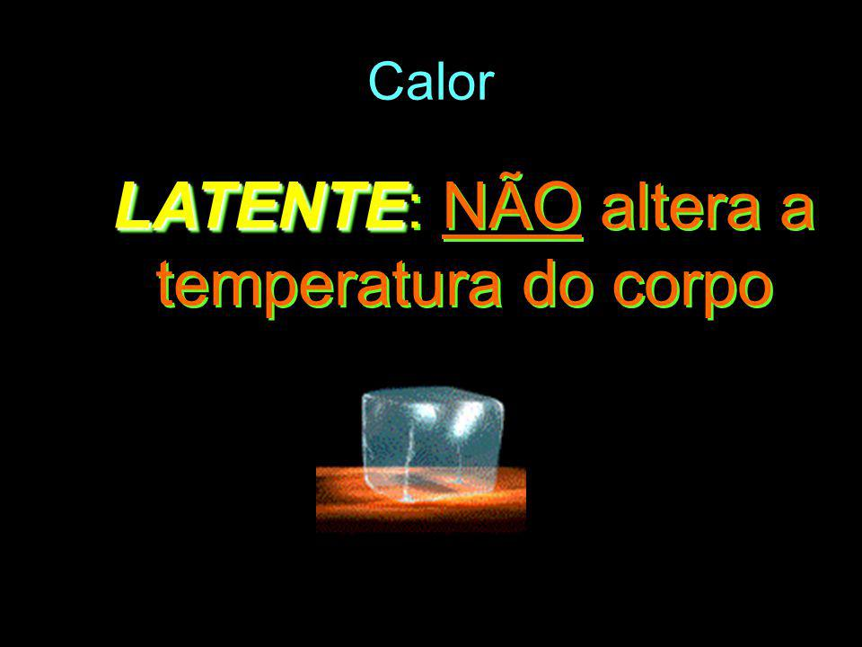 LATENTE: NÃO altera a temperatura do corpo