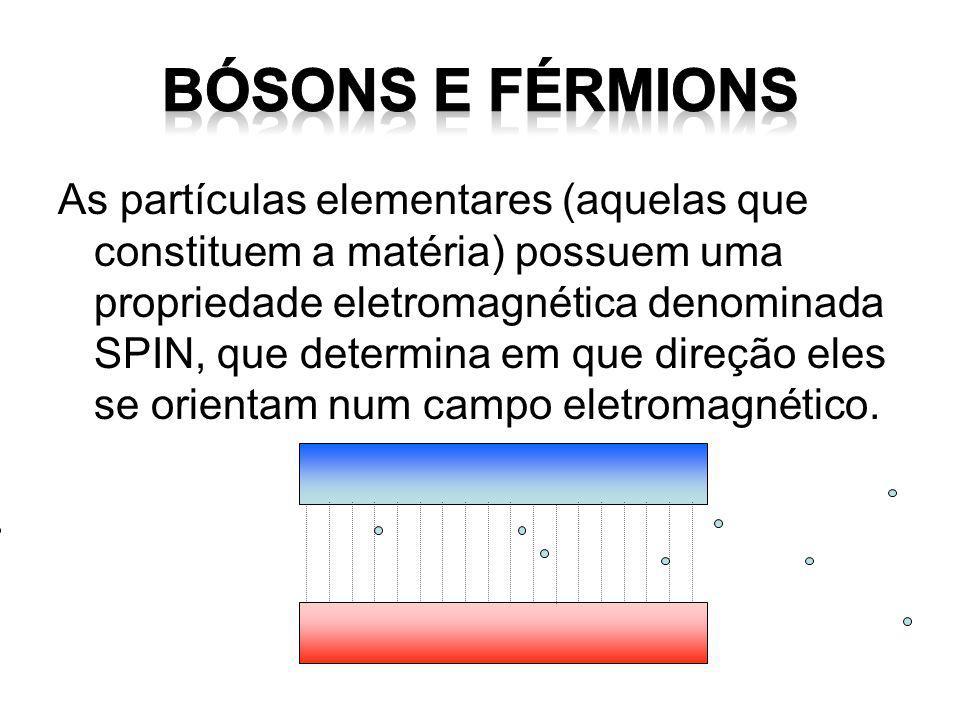 BÓSONS e FÉRMIONS