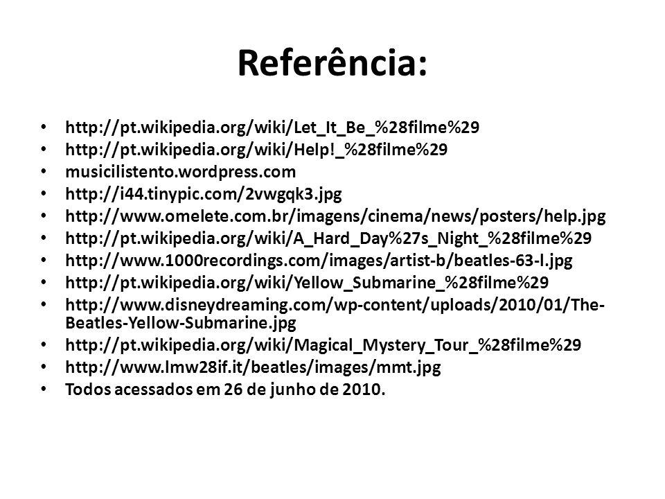 Referência: http://pt.wikipedia.org/wiki/Let_It_Be_%28filme%29