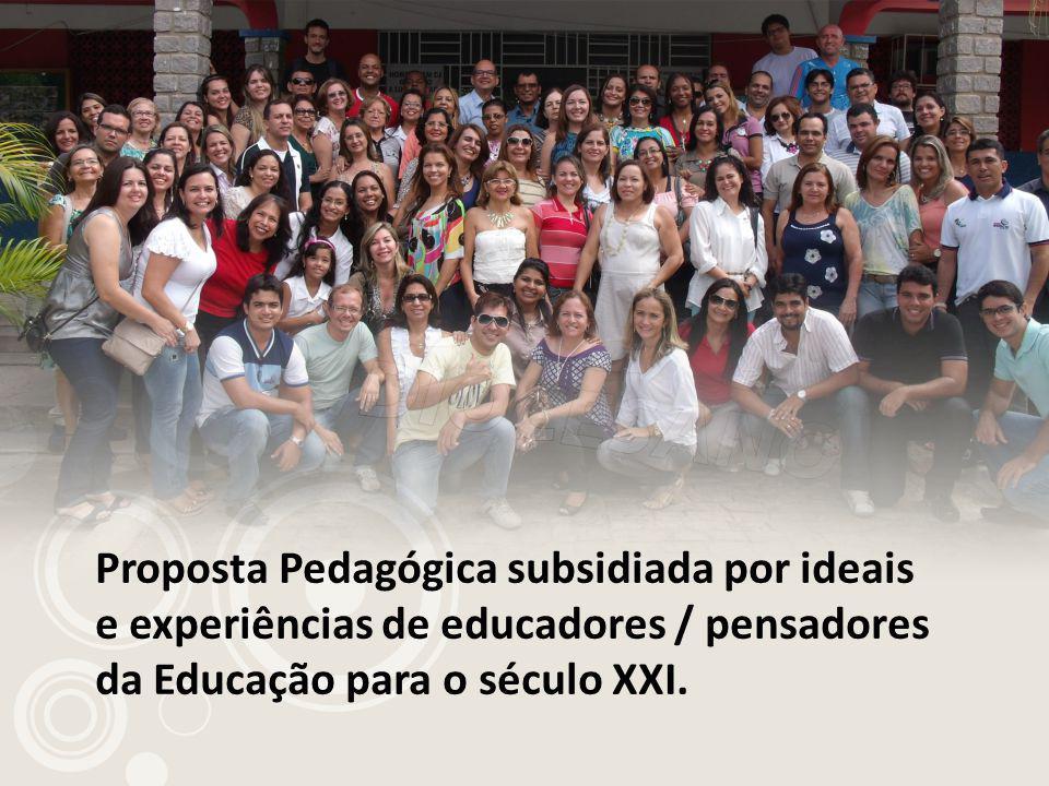 Proposta Pedagógica subsidiada por ideais e experiências de educadores / pensadores da Educação para o século XXI.