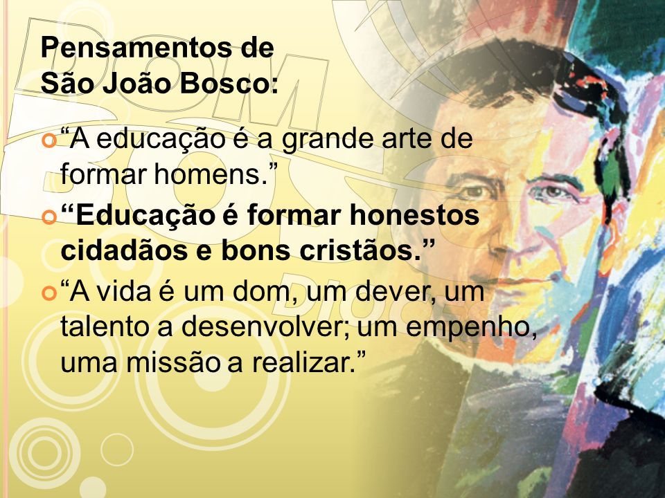 Pensamentos de São João Bosco: