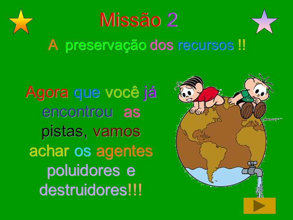 Missão 2 A preservação dos recursos !.