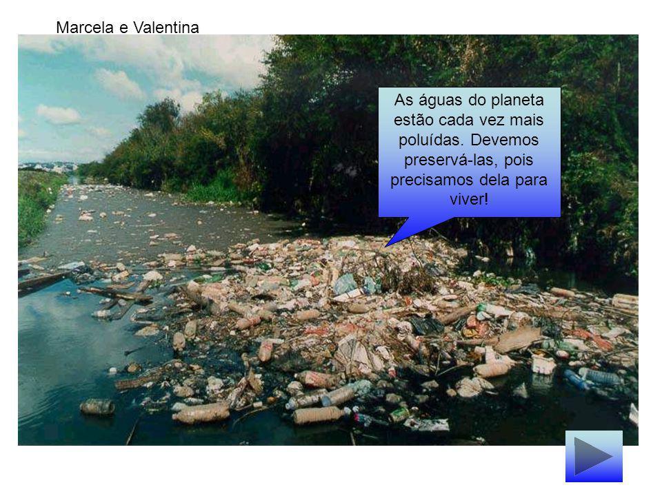 Marcela e Valentina As águas do planeta estão cada vez mais poluídas.