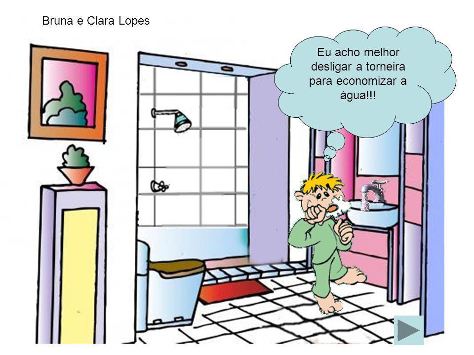 Eu acho melhor desligar a torneira para economizar a água!!!