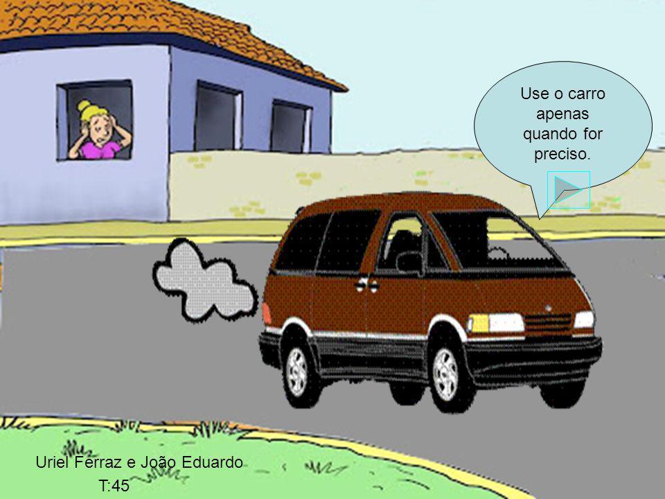 Use o carro apenas quando for preciso.