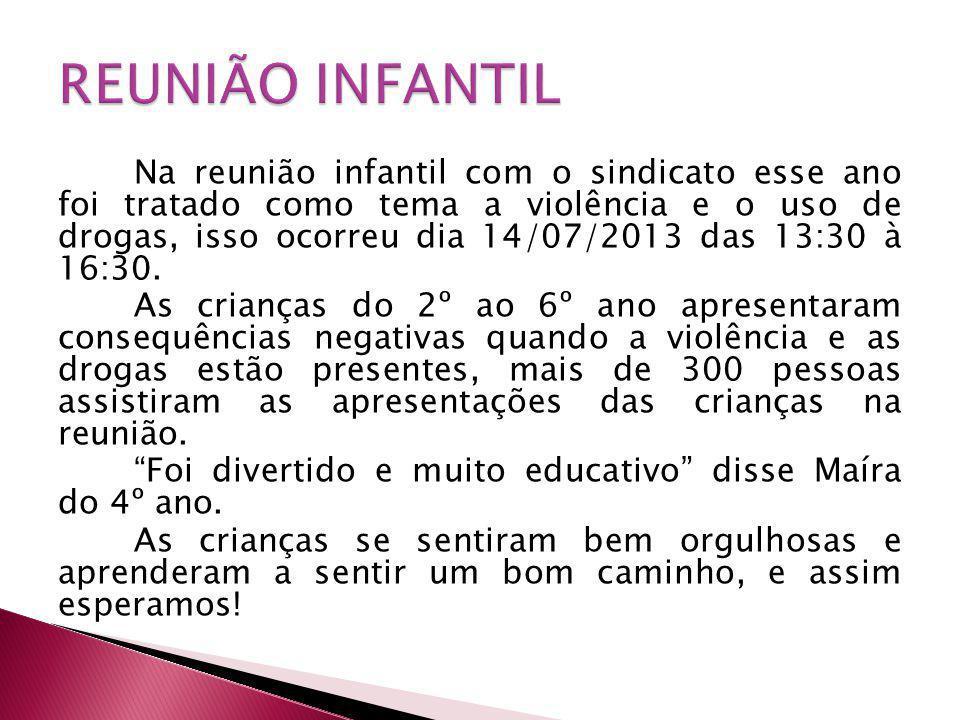 REUNIÃO INFANTIL