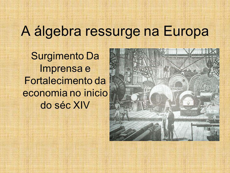 A álgebra ressurge na Europa