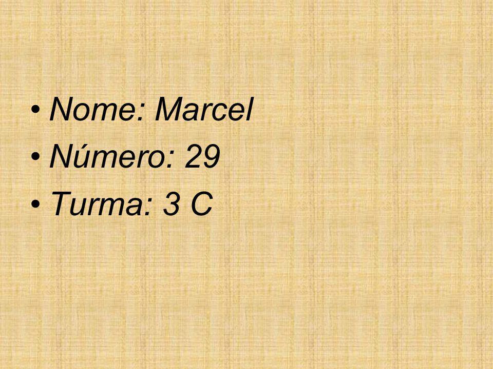 Nome: Marcel Número: 29 Turma: 3 C