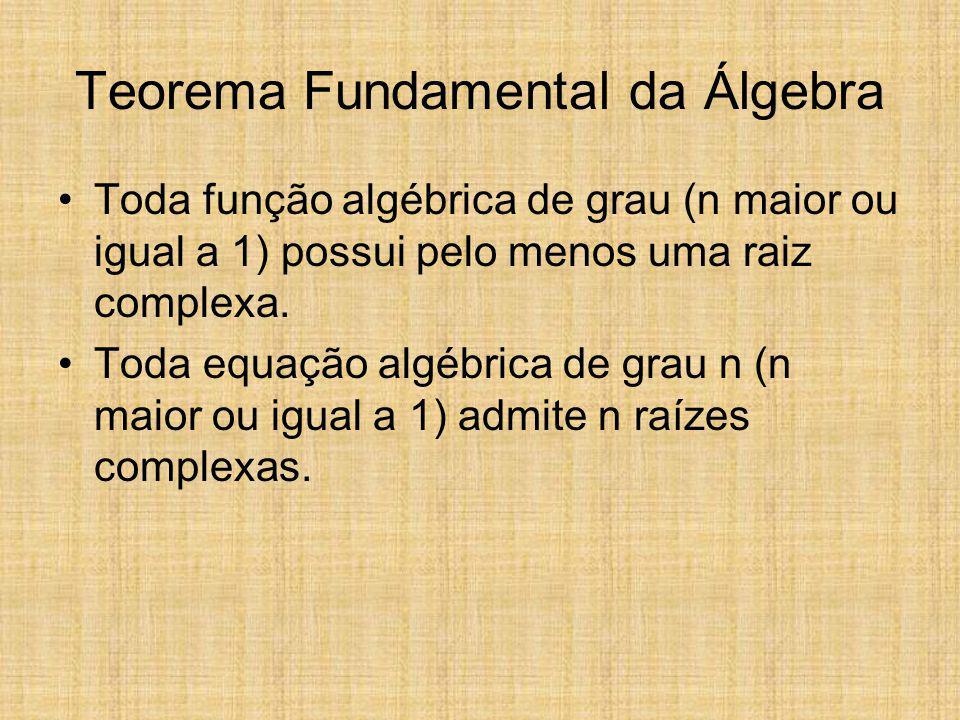 Teorema Fundamental da Álgebra