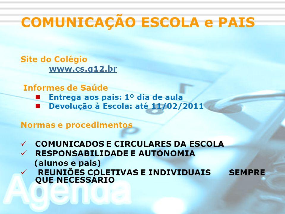 COMUNICAÇÃO ESCOLA e PAIS
