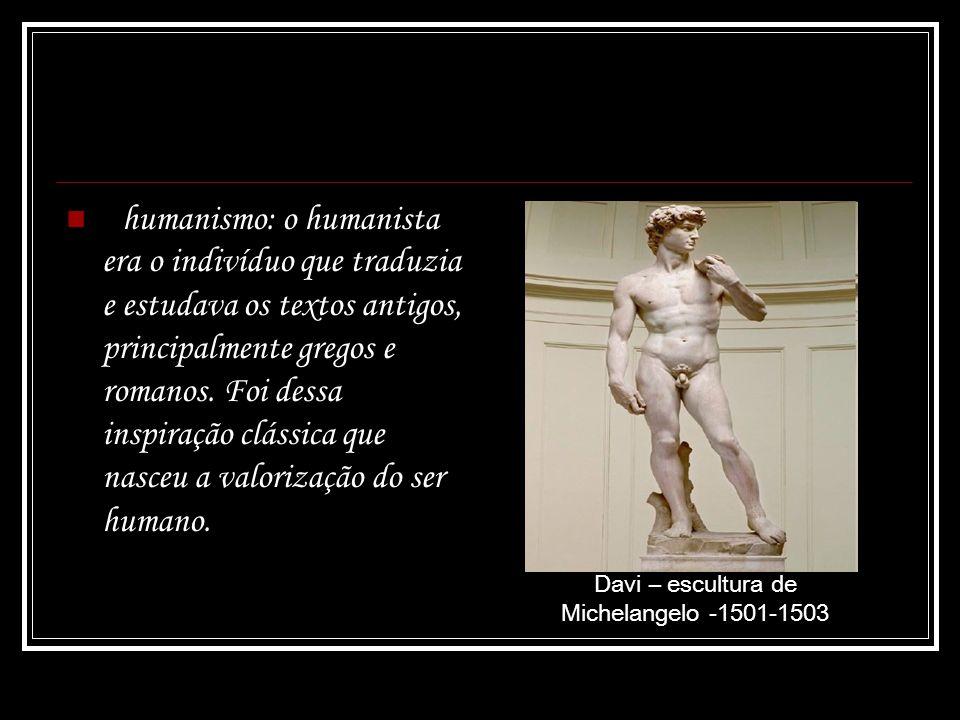 Davi – escultura de Michelangelo -1501-1503