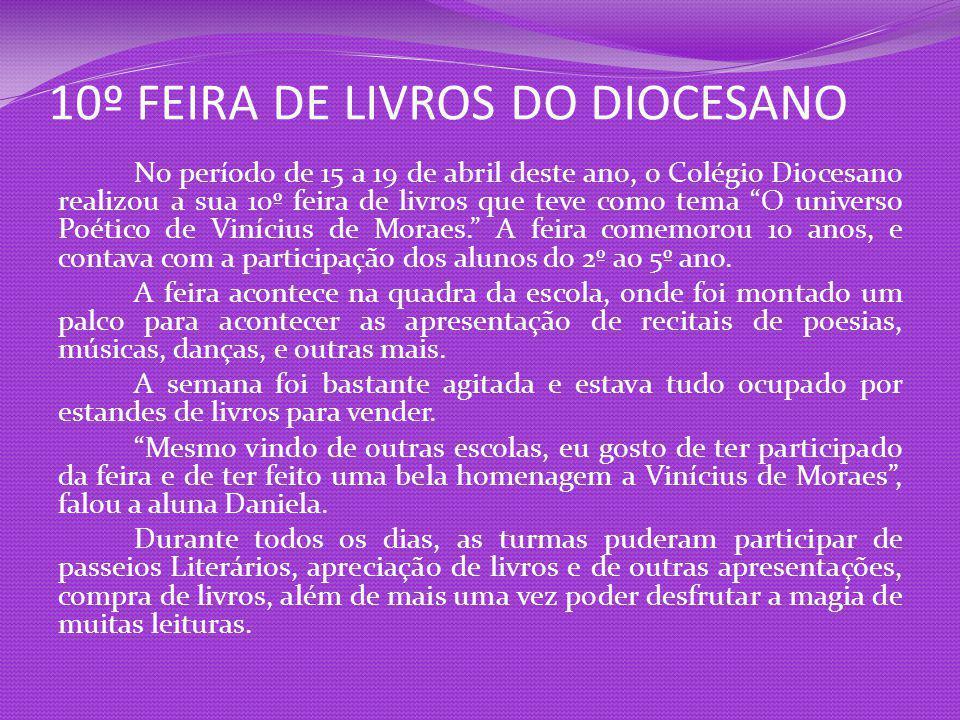 10º FEIRA DE LIVROS DO DIOCESANO