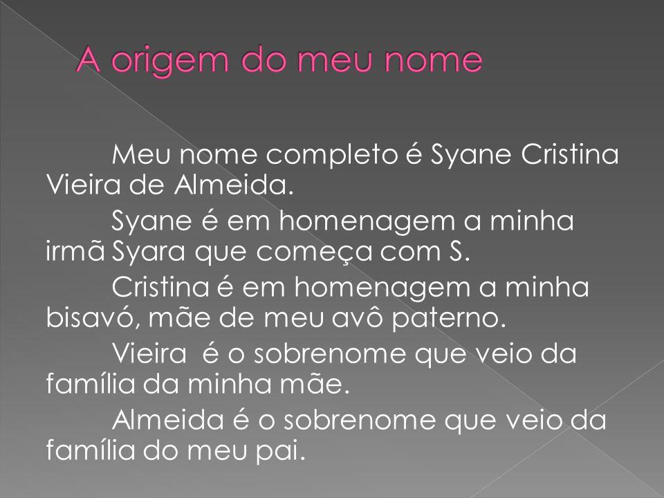 A origem do meu nome
