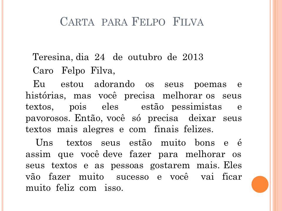 Carta para Felpo Filva