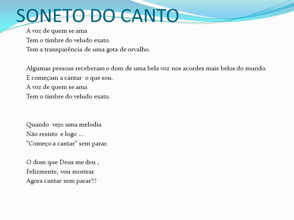 SONETO DO CANTO