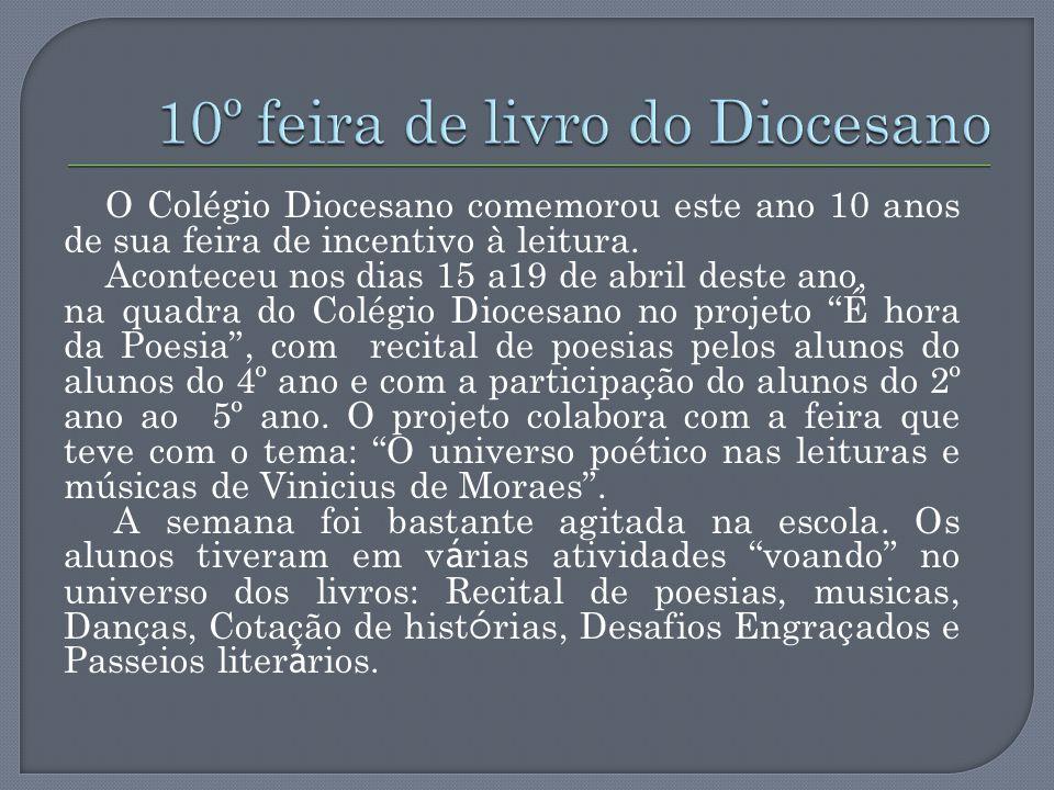 10º feira de livro do Diocesano