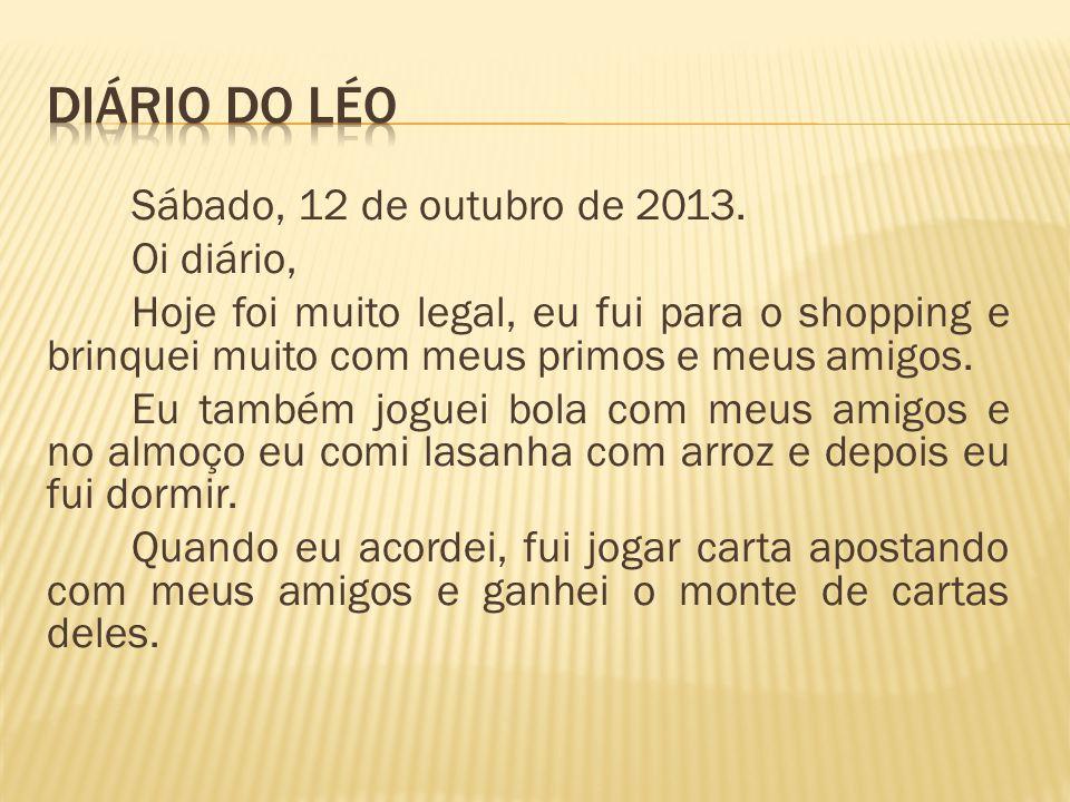 DIÁRIO DO LÉO