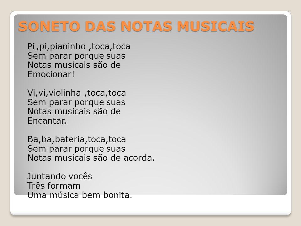 SONETO DAS NOTAS MUSICAIS