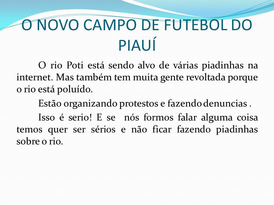 O NOVO CAMPO DE FUTEBOL DO PIAUÍ