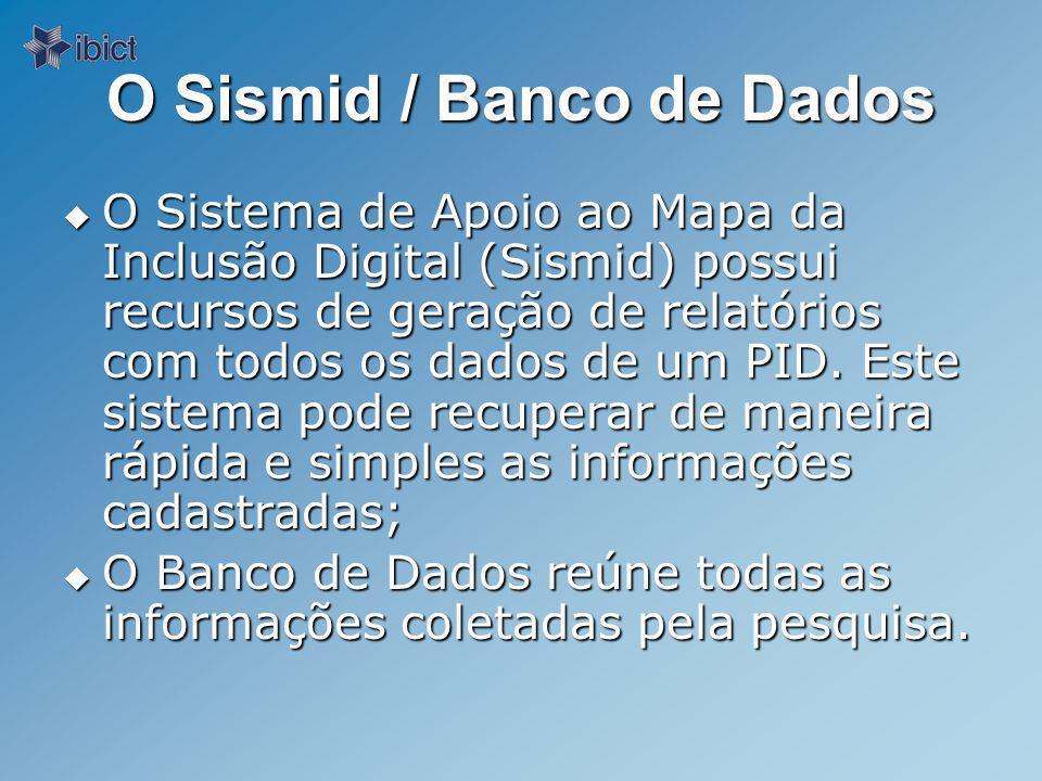 O Sismid / Banco de Dados