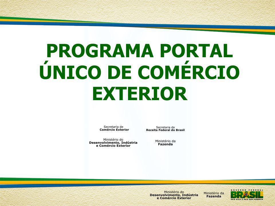 PROGRAMA PORTAL ÚNICO DE COMÉRCIO EXTERIOR
