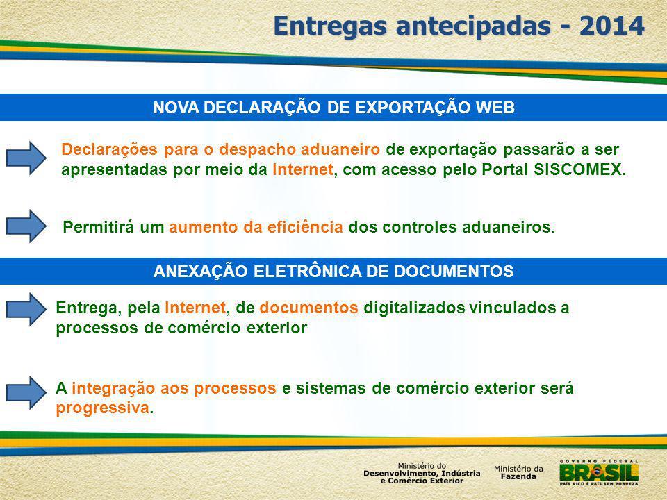 Entregas antecipadas - 2014