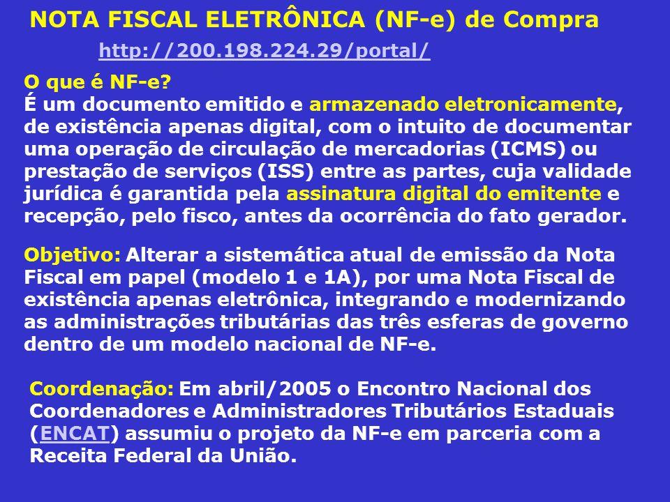 NOTA FISCAL ELETRÔNICA (NF-e) de Compra http://200.198.224.29/portal/