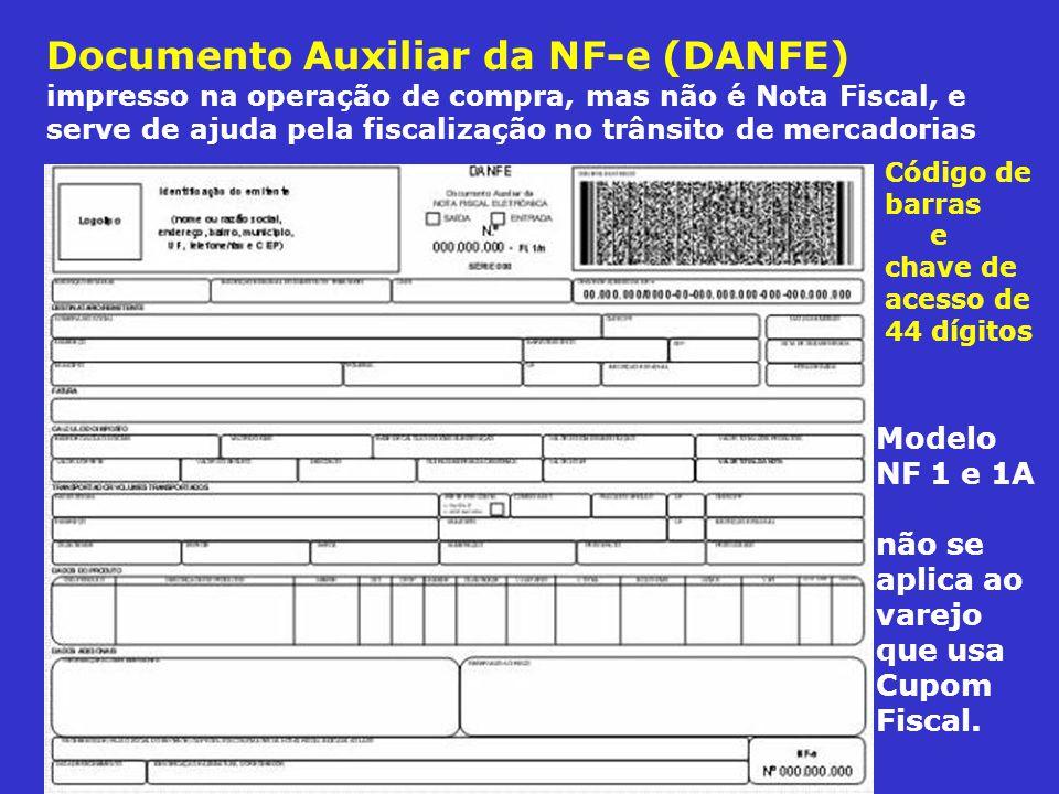 Documento Auxiliar da NF-e (DANFE) impresso na operação de compra, mas não é Nota Fiscal, e serve de ajuda pela fiscalização no trânsito de mercadorias