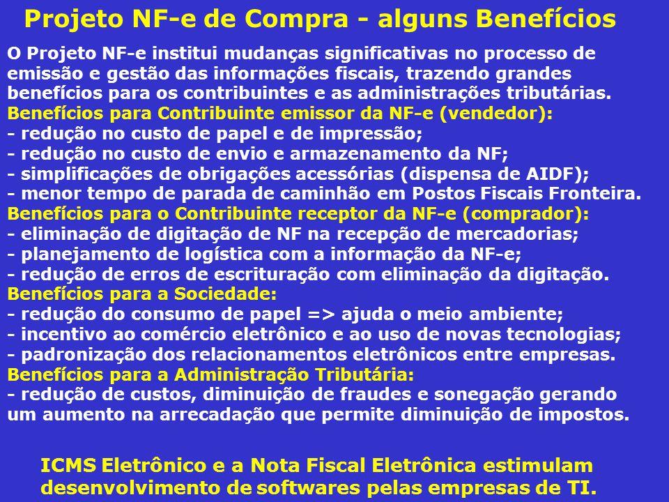 Projeto NF-e de Compra - alguns Benefícios