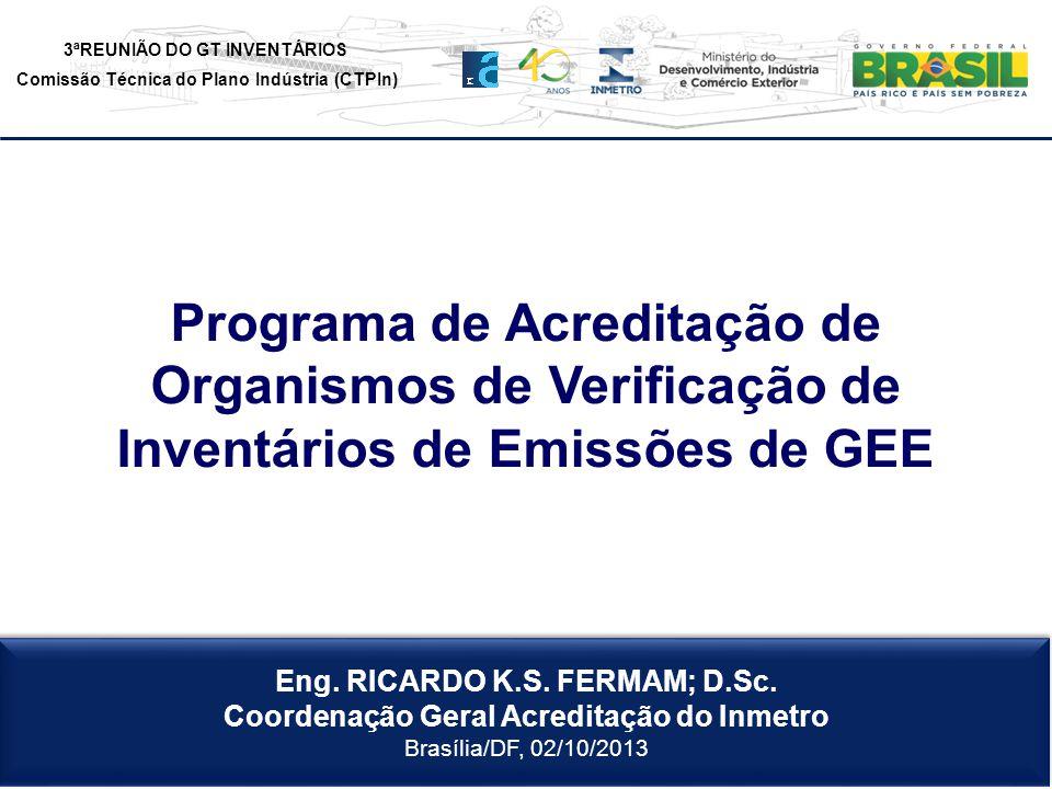 Programa de Acreditação de Organismos de Verificação de Inventários de Emissões de GEE