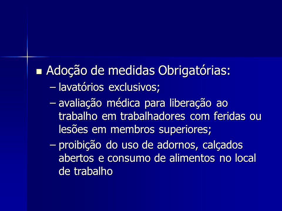 Adoção de medidas Obrigatórias: