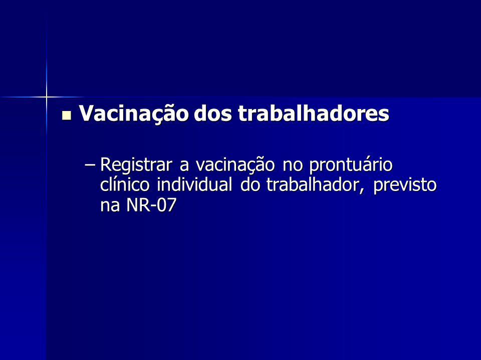 Vacinação dos trabalhadores